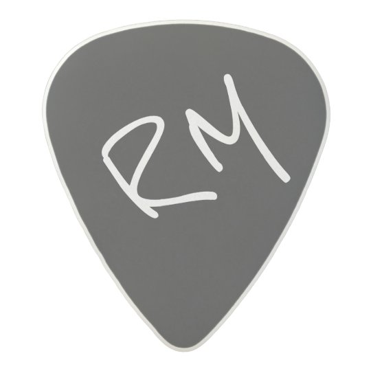 guitar-pick personalised for the guitarist, black
