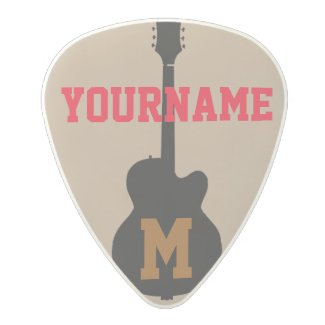 guitar pick personalised with name