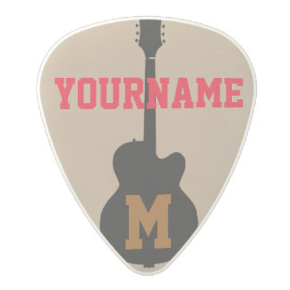 guitar pick personalized with name polycarbonate guitar pick