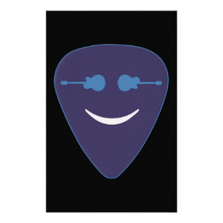 guitar pick smile face stationery