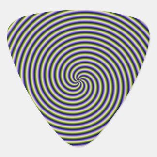 Guitar Pick  Swirl in Green Blue and Violet
