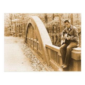 Guitar Pickin' on the Bridge Postcard