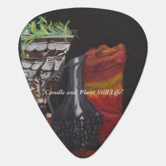 "Guitar Picks, ""Candle & Plant Still"" ALarsenArtist Plectrum"