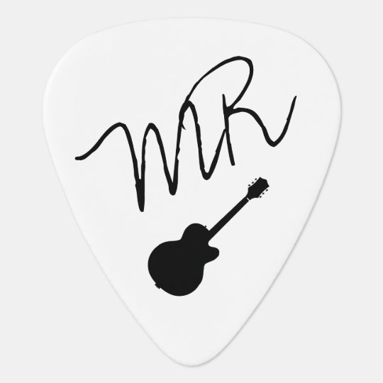 guitar-picks personalised for the guitarman plectrum