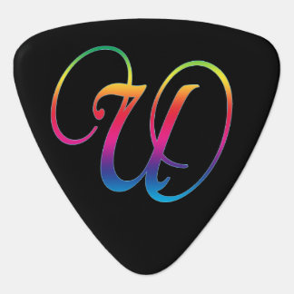 Guitar Picks with Your Favorite Letter