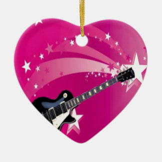 Guitar Pink Christmas Ornament