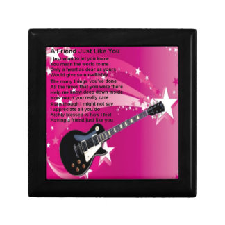 Guitar - Pink  Friend Poem Gift Box