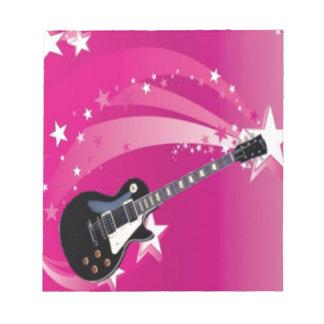 Guitar Pink Notepad