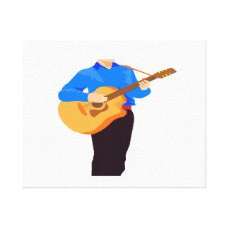 guitar player acoustic partial man graphic.png canvas print
