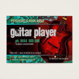 Country rock music business cards business card printing zazzle uk guitar player band business card colourmoves