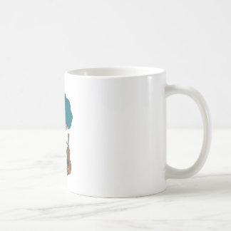 Guitar player basic white mug