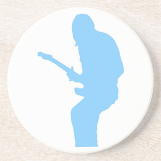 Guitar Player Blue Coasters