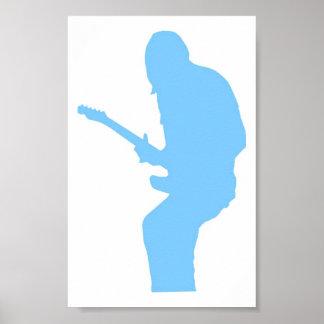 Guitar Player Blue Print