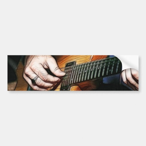 Guitar player bumper stickers