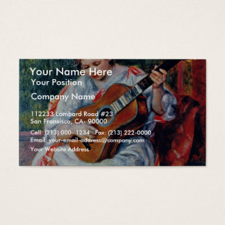 Guitar Player By Pierre-Auguste Renoir Business Card