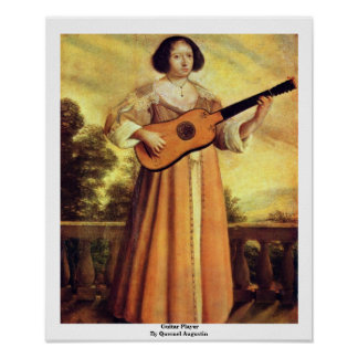 Guitar Player By Quesnel Augustin Posters