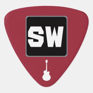 guitar-player custom monogram guitar pick