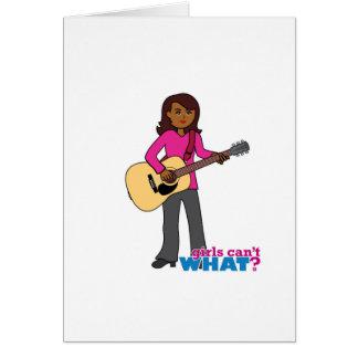 Guitar Player - Dark Greeting Card