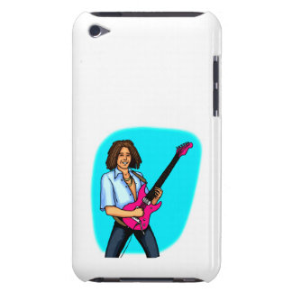 Guitar player, dark skinned, playing electric iPod Case-Mate cases