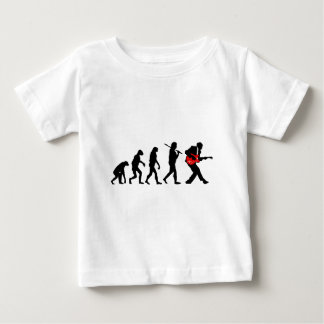 Guitar player evolution baby T-Shirt