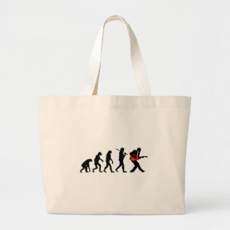 Guitar player evolution large tote bag