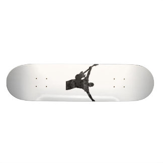 guitar player hands up faded shadow patchy skate board decks