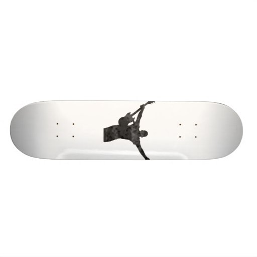 guitar player hands up faded shadow patchy skate deck