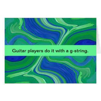 guitar player humor card
