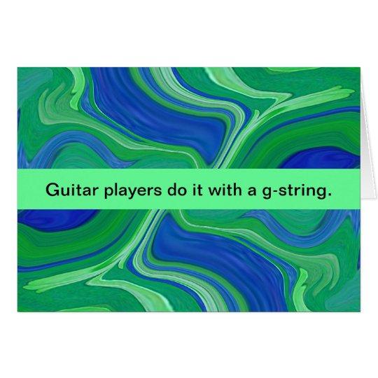guitar player humour card