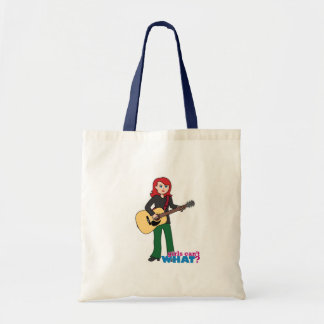 Guitar Player Light/Red Tote Bag
