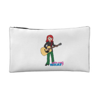 Guitar Player Light/Red Cosmetic Bag