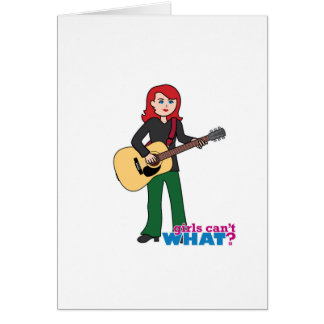Guitar Player Light/Red Greeting Card