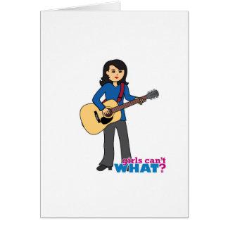 Guitar Player - Medium Greeting Cards