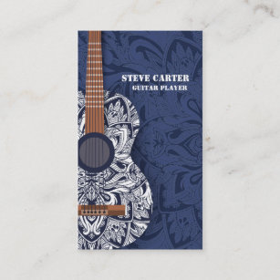 Music artist business cards business card printing zazzle uk guitar player music artist teacher school concert business card colourmoves