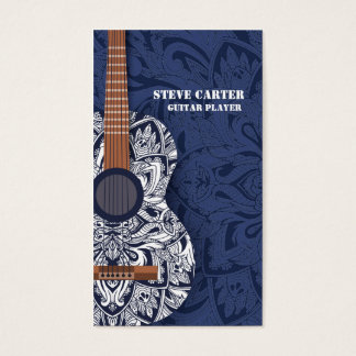 Guitar Player Music Artist Teacher School Concert Business Card