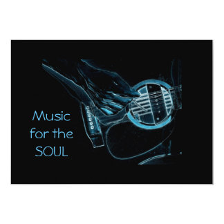 Guitar Player Music Lover's Invitation Cards