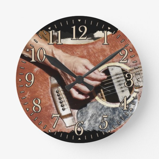 Guitar Player Music Themed Wall Clock