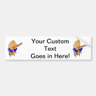guitar player on stool head down graphic.png bumper sticker