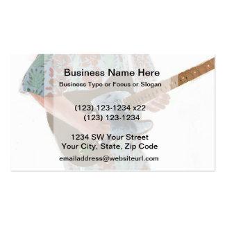 guitar player painting invert music design business card template