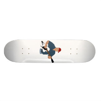 Guitar Player Painting Semi Hollow Red Hat Blue Sh Skateboards