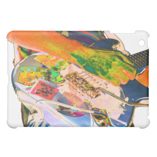 Guitar player,  psychadelic colors music design cover for the iPad mini