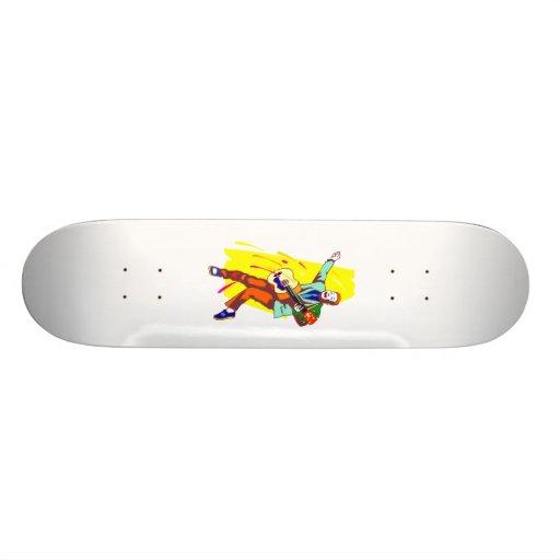 Guitar Player Rockabilly Graphic Image Design Custom Skate Board