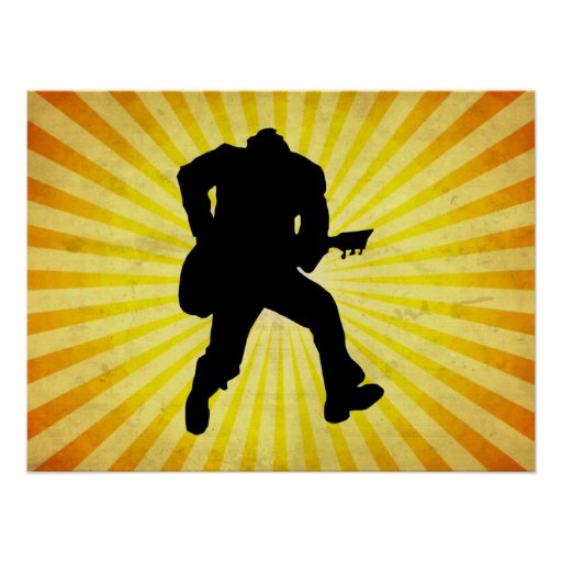 Guitar Player Silhouette Poster