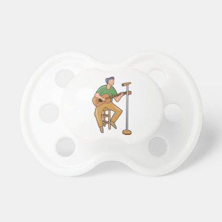 guitar player sitting abstract mic.png baby pacifiers
