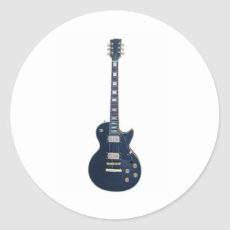 Guitar player round stickers