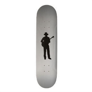 Guitar Player with Hat Personal 19.7 Cm Skateboard Deck