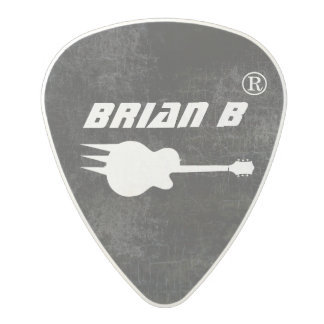 guitar-player's black cool polycarbonate guitar pick