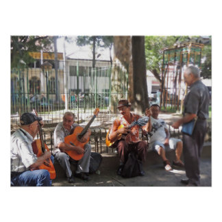Guitar Players in Parque Bolivar Poster