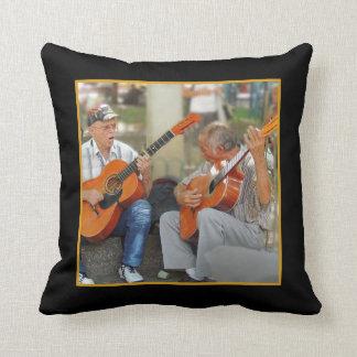 Guitar Players in Parque Bolivar Throw Pillow
