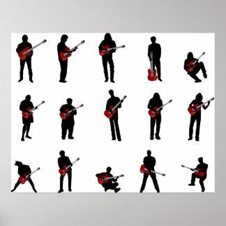 guitar players poster